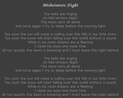 Midwinters Night