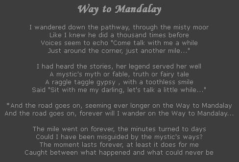 Way to Mandalay