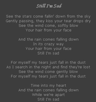 Still I'm Sad